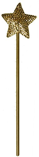 [Jacobson Hat Company Ladies Sparkly Star Wand (Gold)] (Cinderella Godmother Costumes)