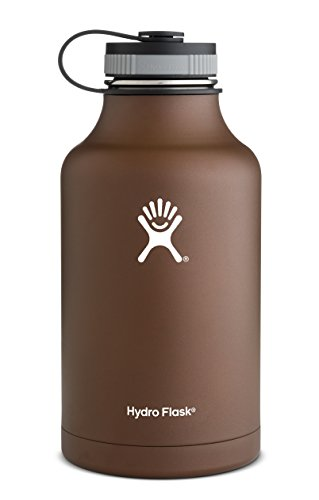 Hydro Flask Insulated Stainless Steel Beer Growler/Water Bottle, 64-Ounce, Copper Brown
