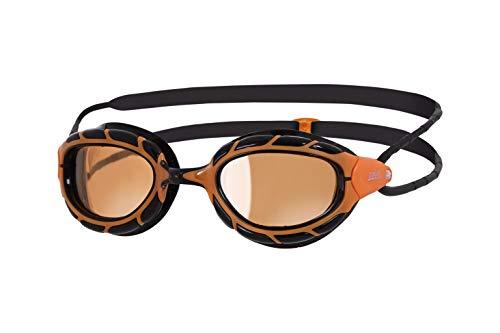 - Zoggs Adults Predator Polarized Swim Goggles, Featuring Ultra Fit - Orange/black