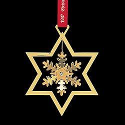(Georg Jensen Christmas Ornament 1987 - Snow Crystal)