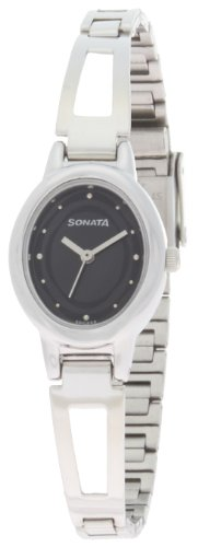 Sonata Everyday Analog Black Dial Women's Watch -NM8085SM01 / NL8085SM01