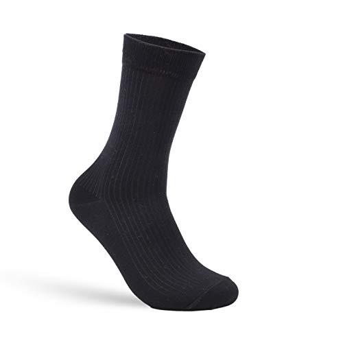 Budermmy Lot de 3 ou 6, 9 paires Chaussettes Homme - Coton - Confortable et Respirante - Taille 39/44- Noir Blanc Gris… 2