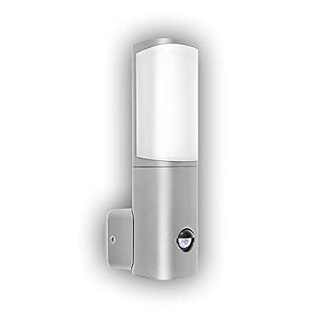 GEV LED Lámpara de pared Natalia con detector de movimiento, ángulo de detección de 120 grados, interruptor crepuscular ...