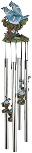 StealStreet SS-G-41977 Wind Chime Round Top Blue Jay Musical Hanging Garden Porch Decoration