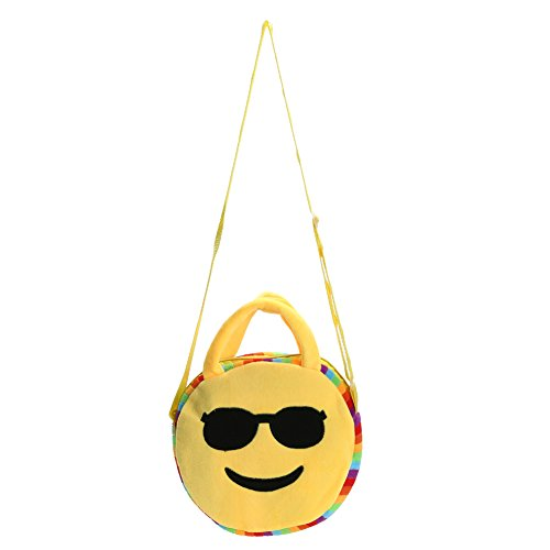 À Main En Ronde Cartable La Dos Sacs Cabina Expression Sac Emoji style Mode Toy Enfants À Peluche Face 7 8aqvY8