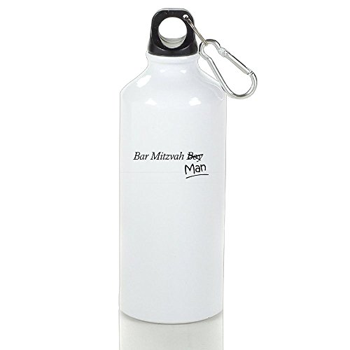 Xihuan Funny Boy-to-Man Bar-Mitzvah Gift Aluminum Outdoor Sports Bottle Perfect For Gym Cup White 500ml