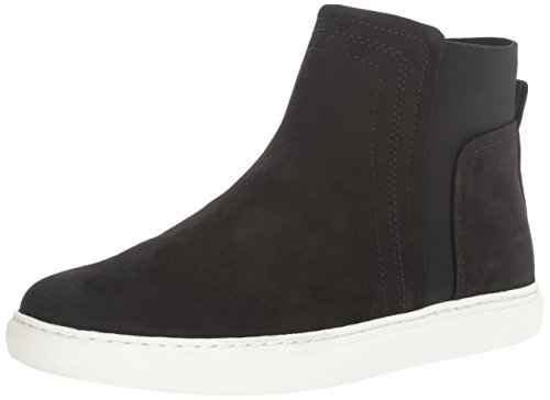 Kenneth Cole REACTION Women's Jodi Mid-Top Sneaker, Black, 8 M US