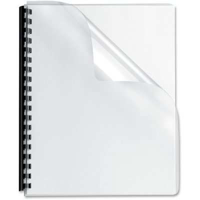 25//Pack FELLOWES 52309 Transparent PVC Binding System Covers 8-3//4quot; x 11-1//4quot Clear