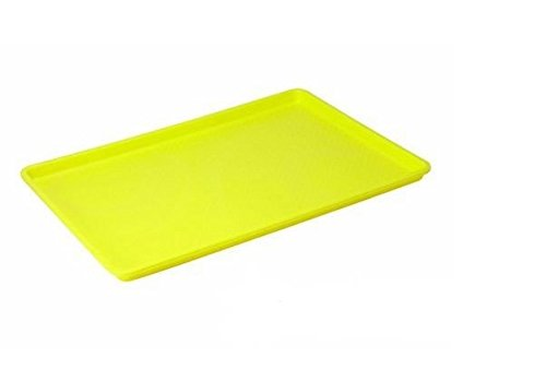Yellow Rectangular Tray - Serving Tray, Caf Standard Cafeteria, Diner, Pizza, Restaurant, Fast Food Tray - Rectangular; 18