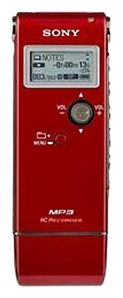 Sony ICDUX70RED Digital Voice Recorder MP3 Stereo Recording and Playback