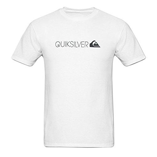 (Jamefoxfit Quiksilver Poster Screw Neck T-shirt For Men XXXL White)