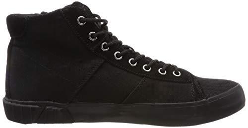 Dock Replay Uomo A black 3 Nero Collo Sneaker Alto dSwSqFr