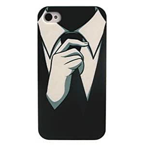 QJM Pull Tie Pattern PC Hard Case for iPhone 4/4S