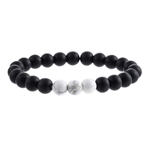 Natural Stone Agate Bracelet Men Women 8mm Lava Rock Chakra Beads Elastic Bracelet