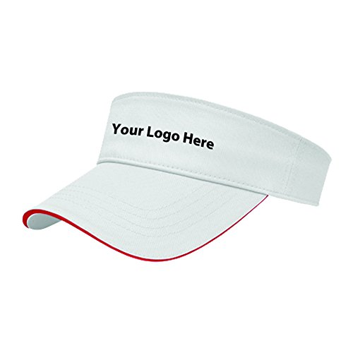 All-Purpose Visor With Contrasting Sandwich Color - 24 Quantity - 10.30 Each - PROMOTIONAL PRODUCT/BULK/BRANDED with YOUR LOGO/CUSTOMIZED Cotton Sandwich Twill Color