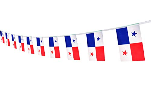Kind Girl Panama Flag Panamanian Flag,100Feet/76Pcs National Country World Pennant Flags Banner,Party Decorations Supplies for Olympics,Bar,Indoor and Outdoor Flags,Intarnational Festival