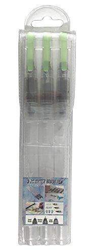KINREX 3 Piece Water Brush Pen Set, Water Ink Pen, White