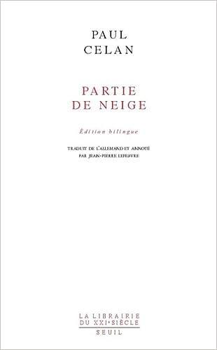Livres Partie de neige : Edition bilingue français-allemand epub pdf