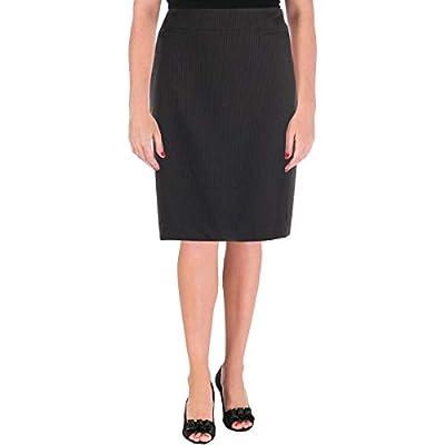 Tahari ASL Womens Pinstripe Knee-Length Pencil Skirt