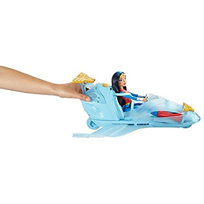 Mattel DC Super Hero Girls: Wonder Woman & Invisible Jet Dolls, Multicolor, 19.0 inches tall: Toys & Games