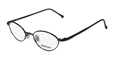 DKNY 6207 For Ladies/Women Designer Full-Rim Classic Shape Sophisticated Sleek Eyeglasses/Eye Glasses (43-17-130, Shiny Dark Blue)