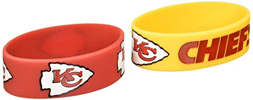 NFL Kansas City Chiefs Silicone Rubber Bracelet, 2-pack