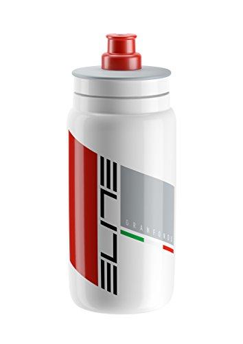 Elite Fly Granfondo Elite Water Bottle, 500ml, White Fly Water Bottle
