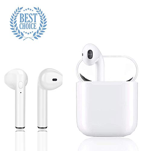 True Wireless Earbuds, Bluetooth Headphones in-Ear Headphones Wireless Headphones Bluetooth Headsets with Microphone Binaural Calls Charging Case for Apple Airpods Android/iPhone