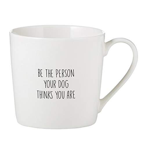 SB Design Studio F1414 SIPS Bone China Cafe Mug/Coffee Cup, 14-Ounce, Be The Person