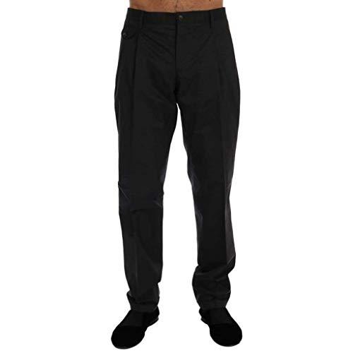 Dolce & Gabbana Black Virgin Wool Dress Pants