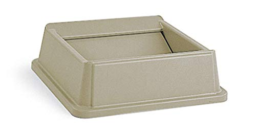 - Rubbermaid Commercial Products Untouchable Square Swing Lid for 35G & 50G Containers, Beige (FG266400BEIG)