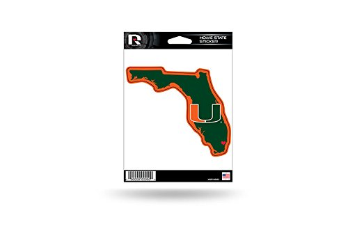 Hurricanes Logo Pin - Rico Industries NCAA Miami Hurricanes Home State Sticker