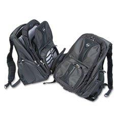 - - Contour Laptop Backpack, Nylon, 15 3/4 x 9 x 19 1/2, Black -