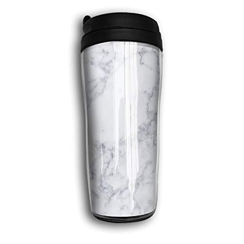 Reusable Coffee Mug, Marble, Iced Espresso Small Coffee Mug Reusable Plastic Curve Travel Mug for Women Men