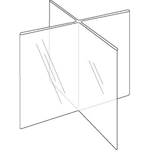 ClearAd LHG Acrylic Sided Sign Holder X Plastic - Restaurant table sign holders