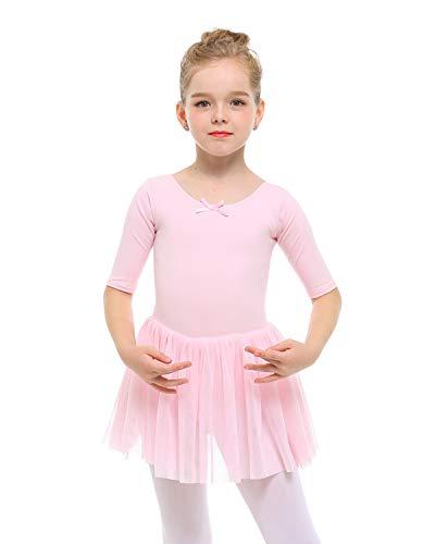 STELLE Toddler/Girls Cute Tutu Dress Leotard for Dance, Gymnastics and Ballet(S, Ballet Pink)