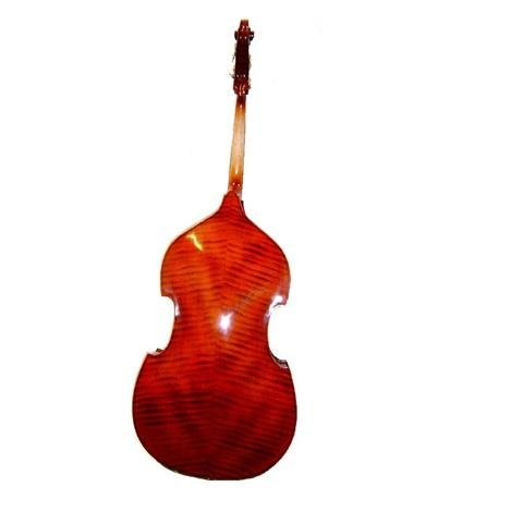 Merano 3/4 Size Flamed Ebony Fitting Upright String Bass with Bag and Bow+Rosin by Merano