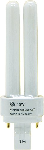 GE Lighting Energy Smart CFL 97589 13-Watt, 810-Lumen Double Biax Light Bulb with Gx23-2 Base, 10-Pack (Biax Cfl Lamps)