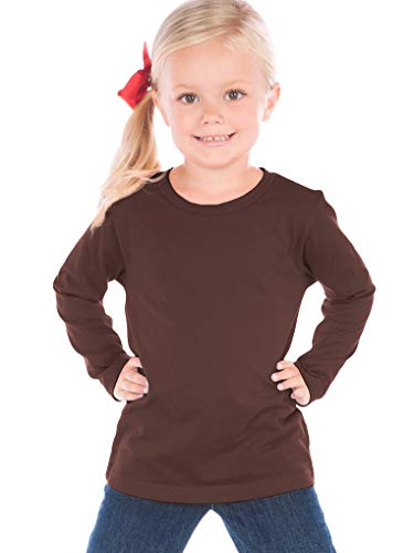 Kavio! Toddlers Crew Neck Long Sleeve Brown 2T