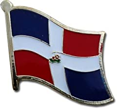 The Backwoods Barnaby™ Dominican Republic National Flag Metal Lapel Pin with High-Quality Gold Butterfly Clasp (Bandera de la República Dominicana Botón) is a great way to show your support for a particular country in a classy yet diplomatic ...
