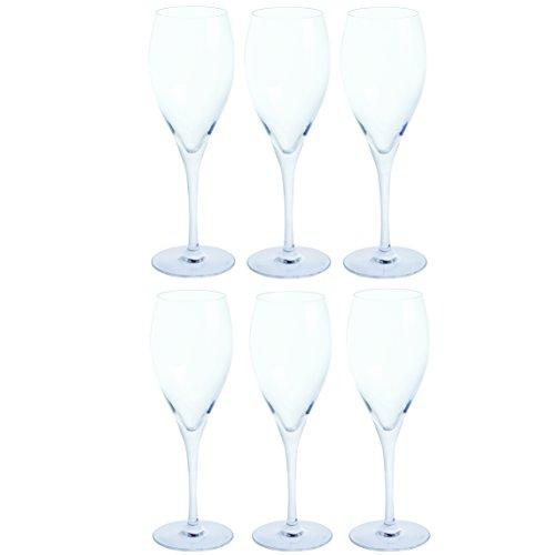 (Dartington Crystal Drink! Set of 6 Prosecco Glasses, 8.8 floz)