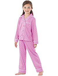 Big Girls Pajamas Set - Long Sleeve 2 Piece Girls Pajamas Set