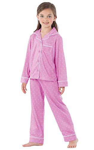 PajamaGram Big Girls Pajamas Set - Long Sleeve 2 Piece Girls Pajamas Set Lavender