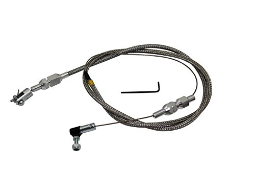 Mota Performance A40325 Braided Stainless Steel Universal Throttle Cable Assembly 36