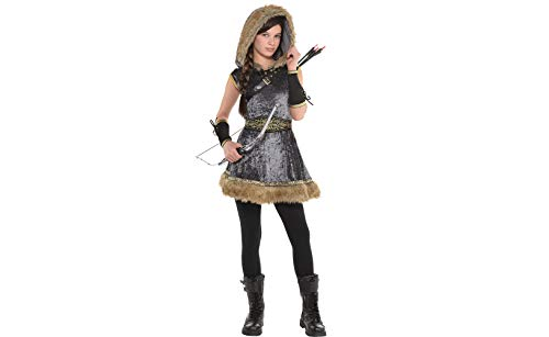 Amscan Miss Archer Halloween Costume for Girls, Large, with Included Accessories -