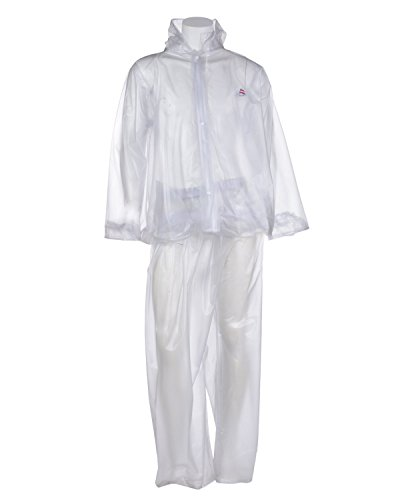 Clubb Light weight PVC Hooded Rain Coat with pockets (Transparent) (XXX-Large)