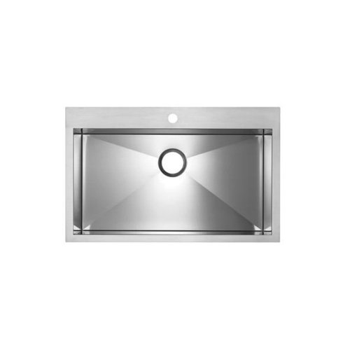 Blanco BL516194 Precision MicroEdge Super Single Bowl Sink with Ledge, Satin Polished (Single Bowl Super Precision)