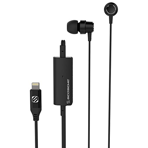 SCOSCHE Noise Isolation Wired Headset for Universal/Smartphone - Black