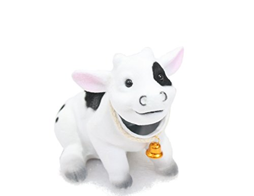 Batty Bargains Bobblehead Cow with Car Dashboard Adhesive by