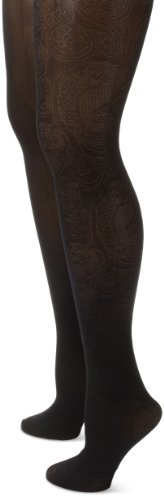 UPC 635943001618, Anne Klein Women's 2 Pair Pack Floral Paisley Tight, Black/Black, Small/Medium